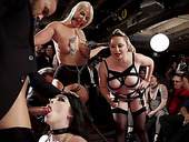 Big tittied and bootyful temptress Aiden Starr is punished in public