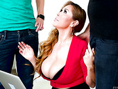 Tantalizing Asian milf Kianna Dior hooks up with two well endowed guys