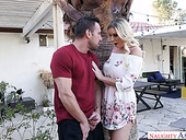 Whorish wife Kenzie Taylor is cheating on her husband with hot blooded neighbor