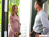 Horny skilled man fucks sexy stepdaughter's friend Lily Moon