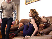 Russian stepmom Marel Dew is having dirty quickie with her horny stepson