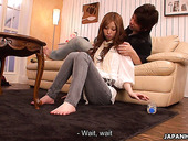 Asian seductress Karin Yazawa gets her pussy fucked and creampied
