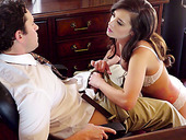 Tempting babe Gia Paige is making love with her handsome boyfriend