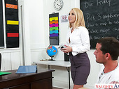 Sexy teacher Aaliyah Love gets her pussy licked and fucked by handsome student