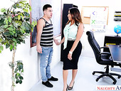 Milf with jaw dropping booty Julianna Vega fucks new handsome employee