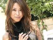 Japanese girl Namiko Yano is fingering and toying her wet pussy