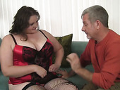 Aged BBW Joslyn Underwood enjoys having dirty sex with her neighbor