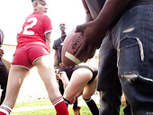 Young chick Keira Croft gets fucked by several black dudes