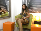 Voluptuous milf in sexy lingerie and stockings Simony Diamond is playing with pinkish slit