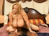 King sized black fattie Lady Snow is screwed doggystyle