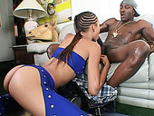 Tight ebony babe Lovely Lexi blows her partner's BBC