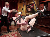 Kinky brutal stud fucks and punishes tied up new porn actress