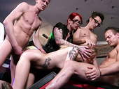 Hot stripper Kitty Blair takes part in crazy group sex