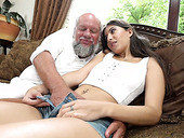 Old fart enjoys fucking sizzling young hottie with perfect body Anya Krey