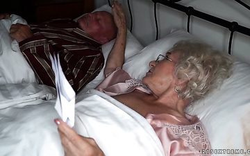 Granny Norma is cheating on her husband with young hot blooded lover