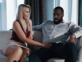 Charming blonde with plump ass and boobies Gemma Parker gets her pussy blacked