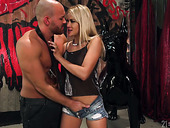 Bald headed man fucks juicy anus of bootiful blond babe Cherry Kiss