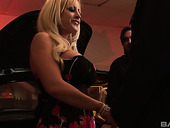Two big bottomed and fake tittied whores take part in crazy foursome clip