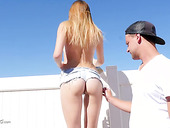 Lovely girlfriend Alex Blake gets her nice muff fucked outdoor