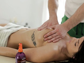 Horny masseur enjoys fucking anus and pussy of yummy babe Alice Smack