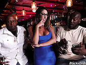 Several black dudes fuck deep throat and wet cunt of juggy milf Dava Foxx
