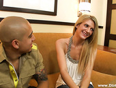 Whorish chick Amanda Tate is fucked by one stranger dude with a big dong