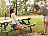 Nice picked up chick Kylee gives a good tugjob to one horny stranger