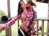 Horny cowboy fucks delicious Canadian babe Amanda Bellucci outdoor