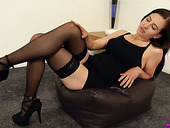 Smoking hot milf from Iceland Tindra Frost is toying her sex-starved cunt