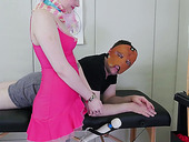 Kinky pervert in mask fucks plump ass of anal insane blonde with pigtails