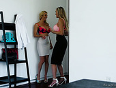 Alexis Fawx and Brandi Love are eating each others tasty looking slits