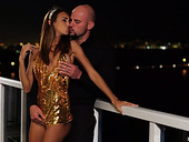 Slender girlfriend Charity Crawford and her boyfriend are having crazy New Year sex