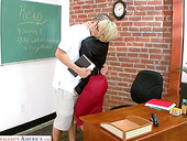 Strict teacher Kayla Synz turned to be very nasty and insatiable chick