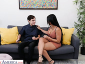 Eye catching milf Diamond Kitty seduces her stepson and bangs him without mercy