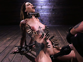 Sextarctive tattooed hooker Rocky Emerson is tied up and toyed by one kinky pervert