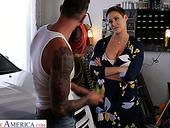 Killing hot milf with big boobs Ryan Keely bangs handsome auto mechanic