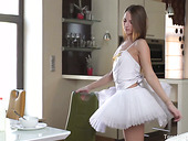 Tempting ballerina Marselina Fiore gets her pussy licked before crazy anal sex