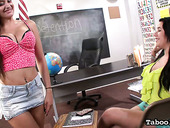 Two juggy students give a good tugjob and titjob in hot POV scene