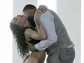 Black temptress Sizi Sev takes a big black cock in wet yummy snatch