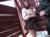 Several Dudes Are Toying Hairy Pussy Of Japanese Girl Kei Kitagawa In Public