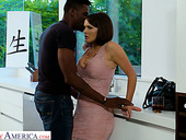 Bodacious Busty White Chick Krissy Lynn Goes Black For The First Time