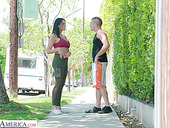Eye catching milf Reagan Foxx bangs handsome young dude living nextdoor