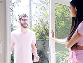 Delicious brunet babe with dimples Eliza Ibarra gets a mouthful of sperm
