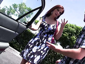 Red haired mature woman with fake boobs Syren De Mer bangs one nerd dude