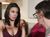 Colombian babe Luna Star hooks up with elder neighbor while husband is on a business trip