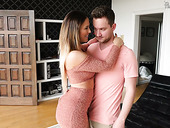 Killing hot milf Cherie Deville gets her anus holed in front of cuckold husband