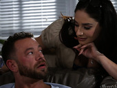 Passionate paramour Sheena Ryder gives a wonderful blowjob and gets her slit rammed