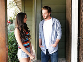 Cute Brunette With Dimples Eliza Ibarra Is Fucked And Jizzed By Hot Blooded Neighbor