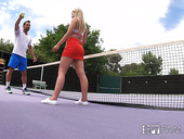 Johnny Castle teaches stepsis play penis on the tennis court