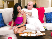 Lewd Asian babe Vina Sky is fucked and fully satisfied by bald headed lover
